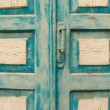 Old blue door in the Crimea — Stock Photo