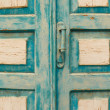 Stock Photo: Old blue door in the Crimea