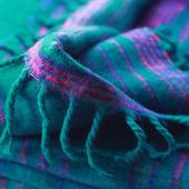 Nepalese woolen soft warm green shawl — Stock Photo
