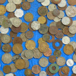 A scattering of old coins - collection has in store — Stock Photo