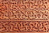 Decorative pattern - stone carving in Qutub Minar, New Delhi, India — Stock Photo