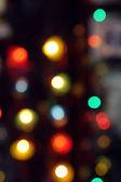 Background - Christmas garland - multi-colored bokeh — Foto de Stock