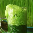 Cup Fresh Green Wheat grass Juice — Stock Photo #44305835