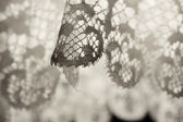 White tracery lace - fragment - close up — Stock Photo