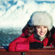 Winter Portrait Frau — Stockfoto #21379061