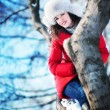Winter Portrait Frau — Stockfoto #21379117