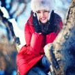 Winter portrait of woman — Stock fotografie #21379153