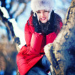 Foto Stock: Winter portrait of woman