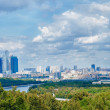 Moscow City, the view from Sparrow Hills — Stock Photo