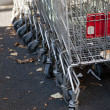 Abandoned trolleys — Stock Photo