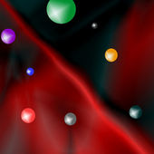 Abstract red and colorated balls — Stock Photo