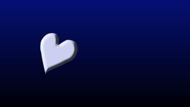 Dos corazones — Vídeo de stock