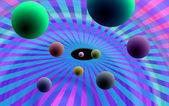 3d renkli topları — Stok fotoğraf