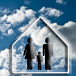 House and family — Stock Photo #18285257
