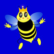 The vector queen bee - Image vectorielle