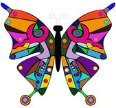 Vector abstract butterfly — Stock Vector