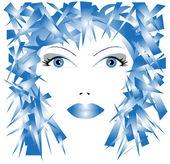 Illustration of woman's face — Stockvektor