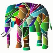 Illustration des elefanten-mosaik — Stockvektor
