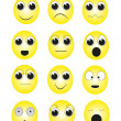 Facial expressions — Stock Vector