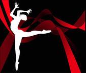 Dancer silhouette — Stock Vector