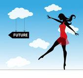 The future — Stock Vector