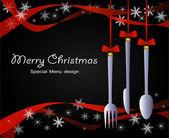 圣诞节的菜单 — 图库矢量图片
