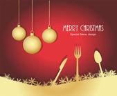 Menu for Christmas — Stock Vector