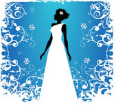Bride silhouette — Stock Vector