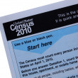 2010 Census form close-up — Stock Photo