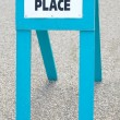 Polling place sign — Stock Photo