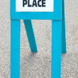 Stock Photo: Polling place sign