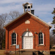 One room schoolhouse front view — Stock Photo