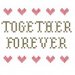 Together Forever embroidery — Stock Photo
