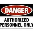 Danger sign - hard hats — Stock Photo