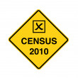 Census 2010 - road sign — Stock Photo