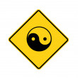 Road sign - ying yang — Stock Photo #12053579