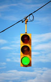 Stoplight on green — Stock Photo