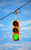 Stoplight on green — Stock Photo