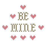 Be Mine embroidery — Stock Photo