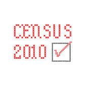 Census 2010 - embroidery — Stock Photo