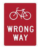 Road sign - bike wrong way — Stock Photo