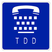 Road sign - TDD phone — Stock Photo