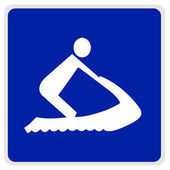 Road sign - waterskiing — Stock Photo