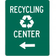 Road sign - recycling center green — Stock Photo #12074902