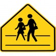 Road sign - school crossing — Stock Photo #12074916