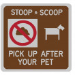 Stoop & scoop sign — Stock Photo