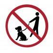 Royalty-Free Stock Photo: Sign - no dog walking