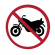 Sign - no motorcycles — Stock Photo
