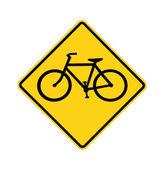 Vägskylt - cykel passerar, isolerade — Stockfoto