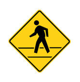 Road sign - crosswalk with lines — Stock Photo